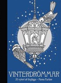 bokomslag Vinterdrömmar : 20 kort att färglägga