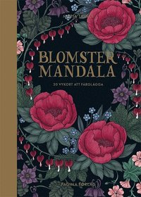 Blomstermandala - 20 vykort att färglägga