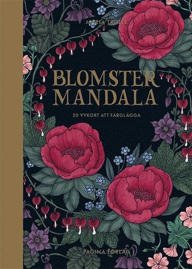 bokomslag Blomstermandala - 20 vykort att färglägga