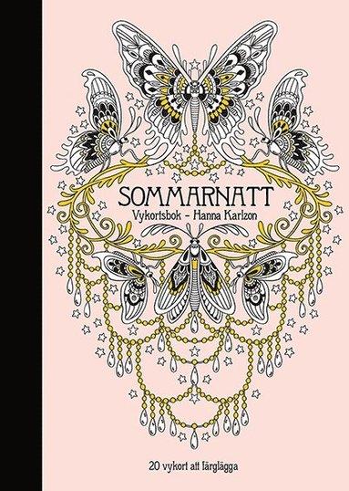 bokomslag Sommarnatt : 20 vykort att färglägga