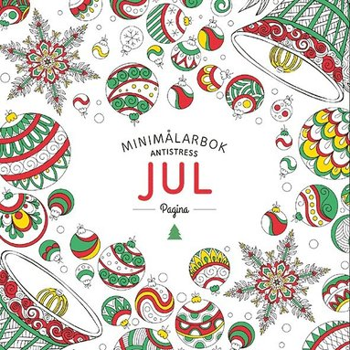 bokomslag Jul. Minimålarbok antistress