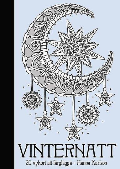 bokomslag Vinternatt : 20 vykort att färglägga