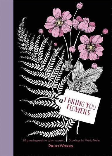 bokomslag I Bring You Flowers : 20 Greeting Cards to Color