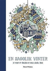 En sagolik vinter 20 vykort att färglägga