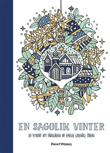 bokomslag En sagolik vinter   20 vykort att färglägga