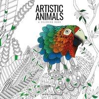 bokomslag Artistic animals : a colouring book