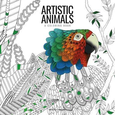 bokomslag Artistic animals : a colouring book