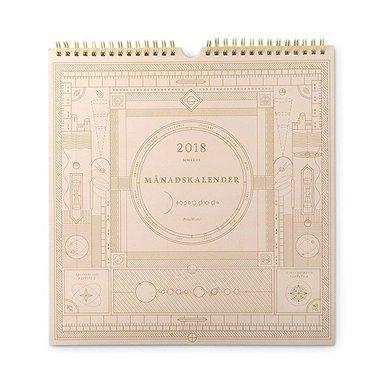 Väggkalender 2018 Månadskalender