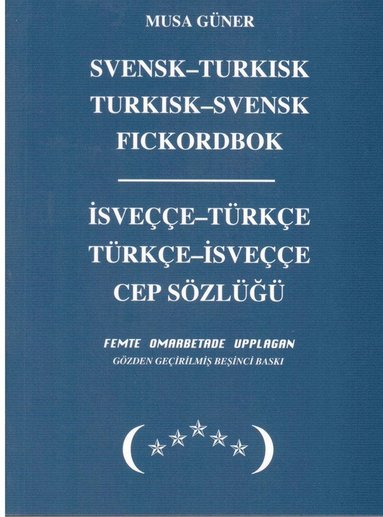 bokomslag Svensk-turkisk, turkisk-svensk fickordbok