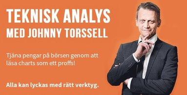 bokomslag Teknisk analys med Johnny Torssell : tjäna pengar på börsen genom att läsa charts som ett proffs!
