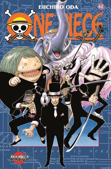 bokomslag One Piece 42 - Piraterna mot CP9 - Piraterna mot CP9