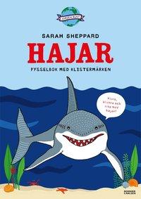 bokomslag Hajar - pysselbok med klistermärken