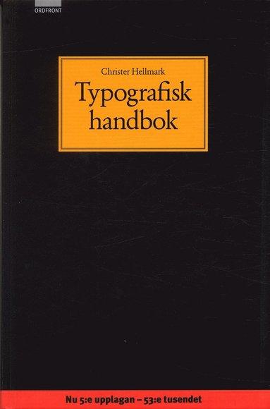 bokomslag Typografisk handbok