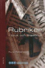 bokomslag Rubriker : - bruk och missbruk