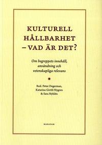 bokomslag Kulturell hållbarhet - vad är det? : om begreppets innehåll, användning och vetenskapliga relevans