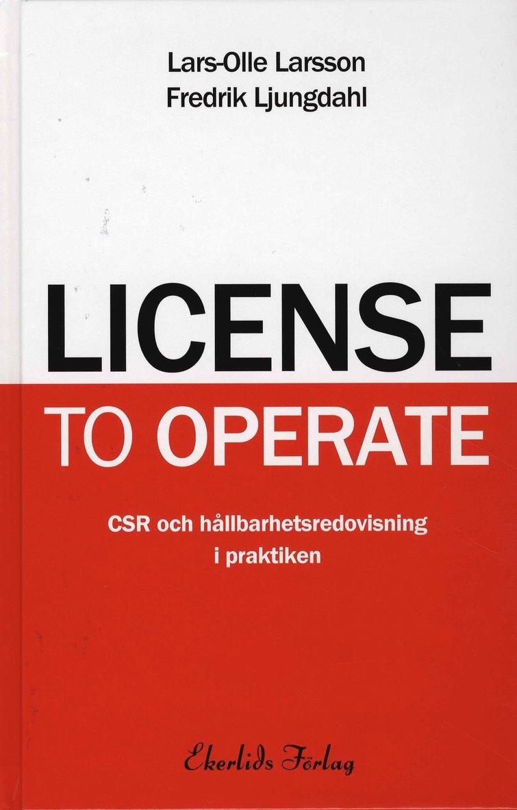 License to operate : CSR och hållbarhetsredovisning i praktiken 1