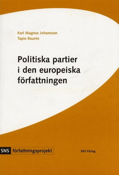 bokomslag Politiska partier i den europeiska författningen