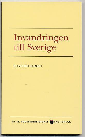bokomslag Invandringen till Sverige
