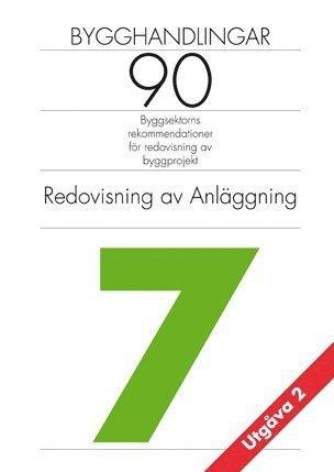 bokomslag Bygghandlingar 90 : byggsektorns rekommendationer för redovisning av byggprojekt. D. 7, Redovisning av anläggning