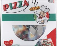 bokomslag Pizza - box (bok & pizzaskärare)