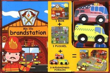 bokomslag Min lilla brandstation (bok, pussel och leksaker)