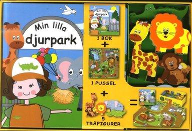 bokomslag Min lilla djurpark (bok, pussel och figurer)