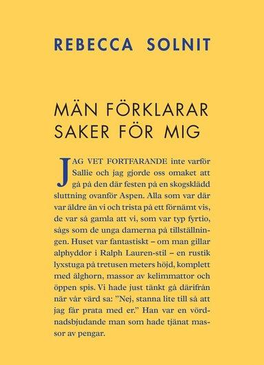 bokomslag Män förklarar saker för mig