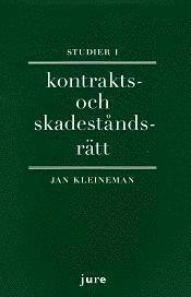 bokomslag Studier i kontrakts- och skadeståndsrätt
