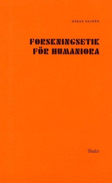 bokomslag Forskningsetik för humaniora