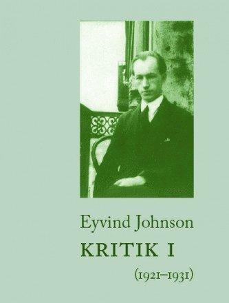 bokomslag Kritik. 1, 1921-1931