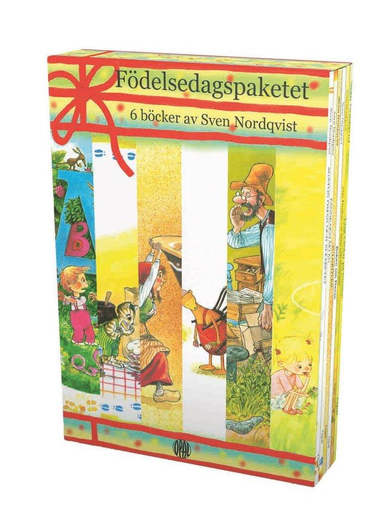 Födelsedagspaketet : 6 böcker av Sven Nordqvist 1