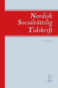 bokomslag Nordisk socialrättslig tidskrift 11-12 (2015)