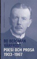 bokomslag Vårfrost : poesi och prosa 1903-1967