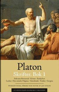 bokomslag Skrifter. Bok 1. Sokrates försvarstal ; Kriton ; Euthyfron ; Laches ; Gästabudet ; Faidon ; Gorgias