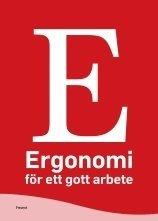 bokomslag Ergonomi för ett gott arbete
