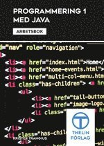 bokomslag Programmering 1 med Java - Arbetsbok