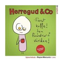 Vykortsbok med Herregud & Co