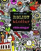 Stora boken med roligt klotter och andra ritövningar