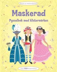 bokomslag Maskerad - pysselbok med klistermärken