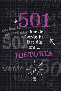 bokomslag 501 saker du borde ha lärt dig om historia