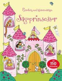 bokomslag Sagoprinsessor : pysselbok med klistermärken