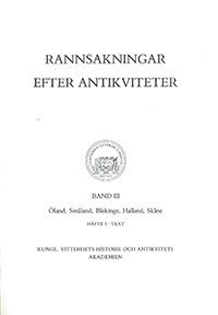 bokomslag Rannsakningar efter antikviteter, band III