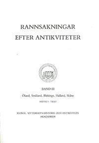 Rannsakningar efter antikviteter, band III 1