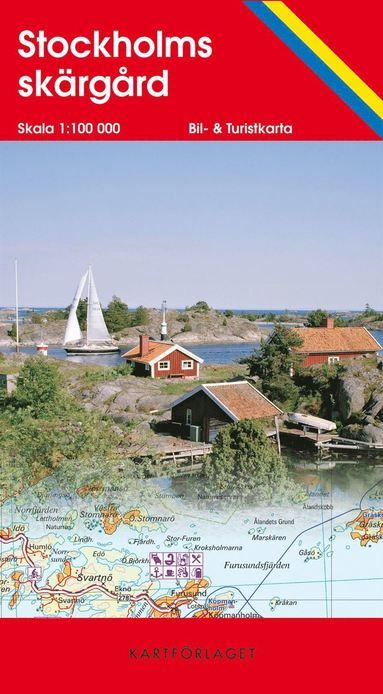 bokomslag Stockholms skärgård karta : 1:100000