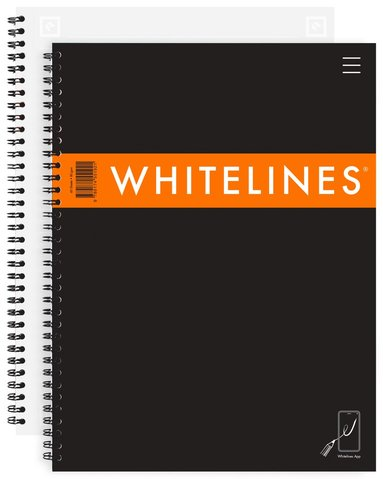 Kollegieblock A4 Whitelines Link linjerad svart 1