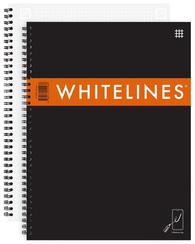 Kollegieblock A4 Whitelines Link rutad svart 1