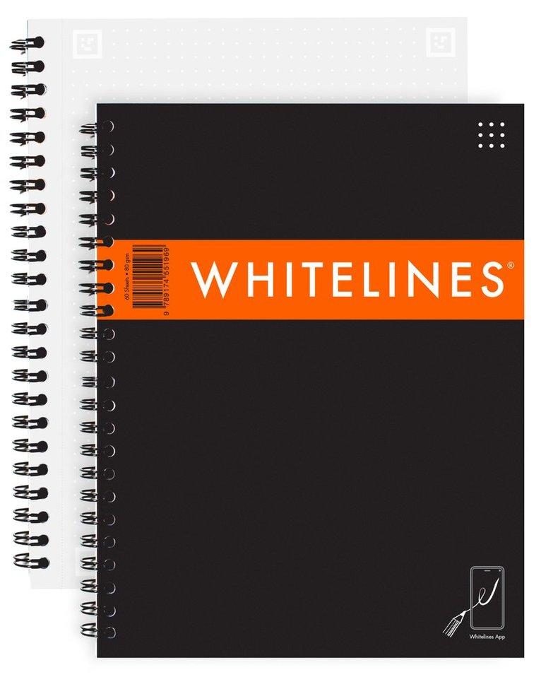 Kollegieblock A5 Whitelines Link prickad svart 1