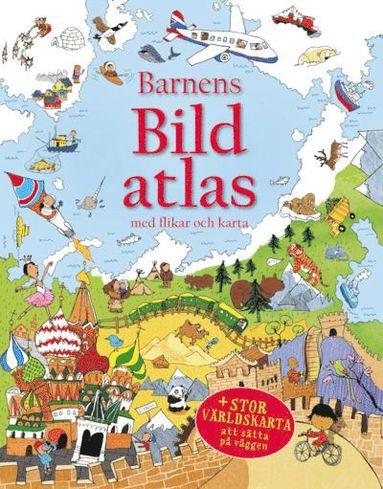 bokomslag Barnens bildatlas med flikar och karta