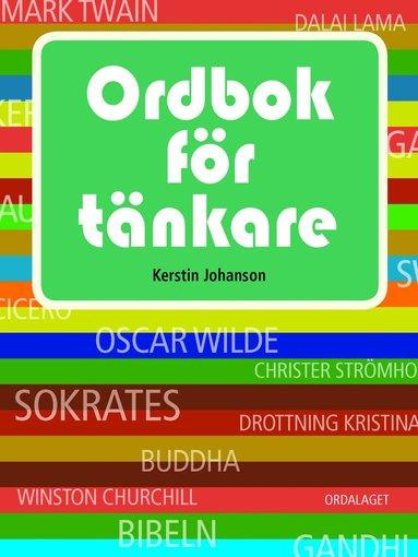 bokomslag Ordbok för tänkare
