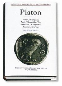 bokomslag Skrifter 2 Menon Protagoras Lysis Charmides Ion Menexenos Euthydemos Faidro